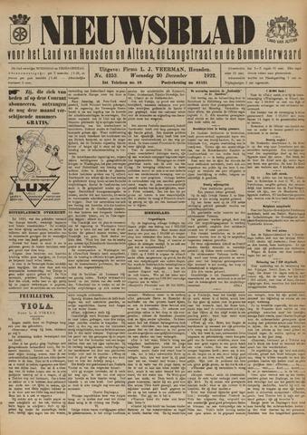 Nieuwsblad het land van Heusden en Altena de Langstraat en de Bommelerwaard 1922-12-20