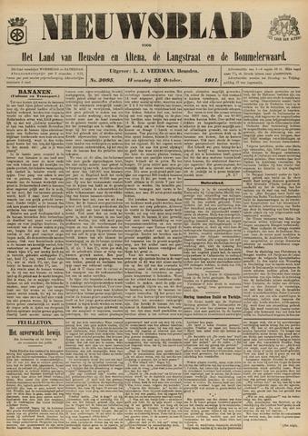 Nieuwsblad het land van Heusden en Altena de Langstraat en de Bommelerwaard 1911-10-25