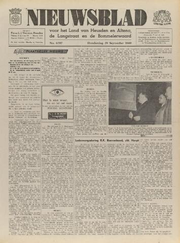 Nieuwsblad het land van Heusden en Altena de Langstraat en de Bommelerwaard 1949-09-29