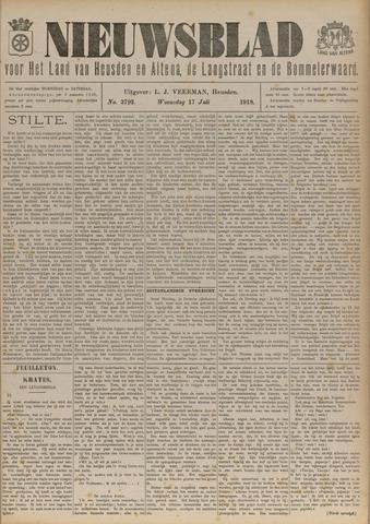 Nieuwsblad het land van Heusden en Altena de Langstraat en de Bommelerwaard 1918-07-17