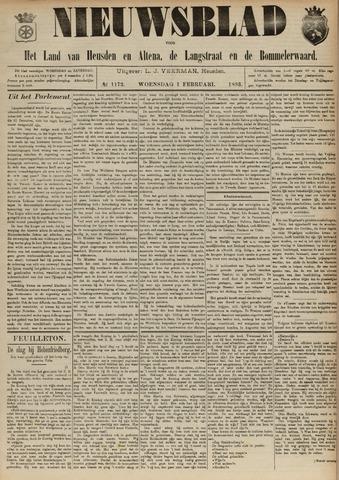 Nieuwsblad het land van Heusden en Altena de Langstraat en de Bommelerwaard 1893-02-01