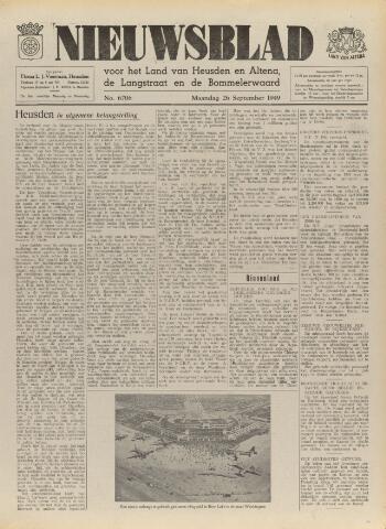 Nieuwsblad het land van Heusden en Altena de Langstraat en de Bommelerwaard 1949-09-26