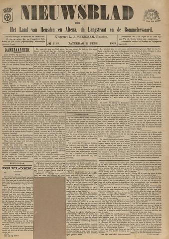 Nieuwsblad het land van Heusden en Altena de Langstraat en de Bommelerwaard 1903-02-21