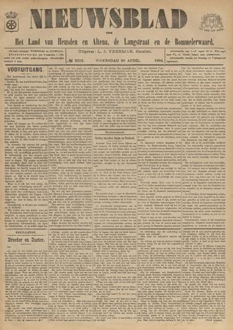 Nieuwsblad het land van Heusden en Altena de Langstraat en de Bommelerwaard 1904-04-20