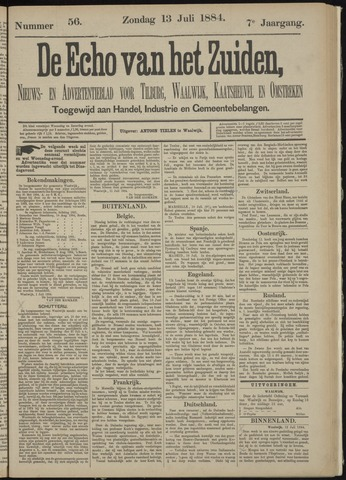 Echo van het Zuiden 1884-07-13