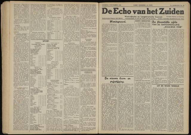 Echo van het Zuiden 1948-11-09