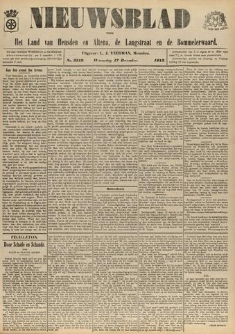 Nieuwsblad het land van Heusden en Altena de Langstraat en de Bommelerwaard 1913-12-17