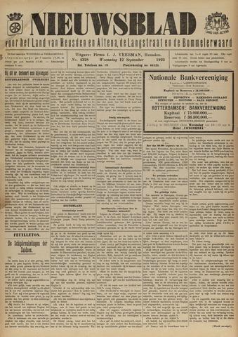 Nieuwsblad het land van Heusden en Altena de Langstraat en de Bommelerwaard 1923-09-12