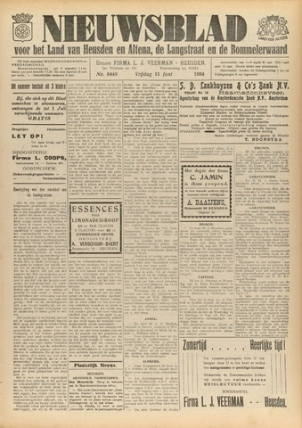 Nieuwsblad het land van Heusden en Altena de Langstraat en de Bommelerwaard 1934-06-15