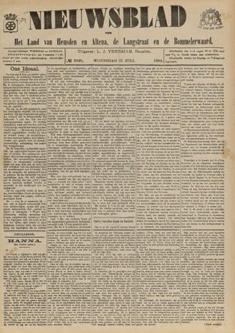 Nieuwsblad het land van Heusden en Altena de Langstraat en de Bommelerwaard 1904-07-27