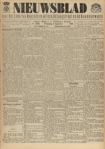 Nieuwsblad het land van Heusden en Altena de Langstraat en de Bommelerwaard 1925-09-09