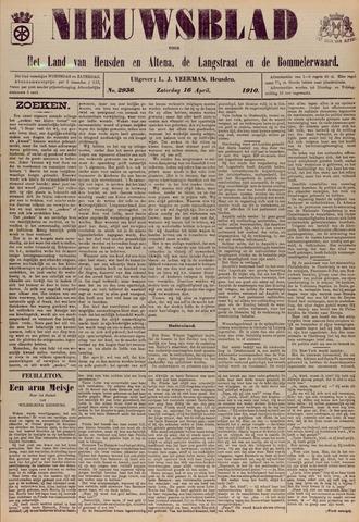 Nieuwsblad het land van Heusden en Altena de Langstraat en de Bommelerwaard 1910-04-16