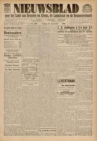 Nieuwsblad het land van Heusden en Altena de Langstraat en de Bommelerwaard 1936-09-11