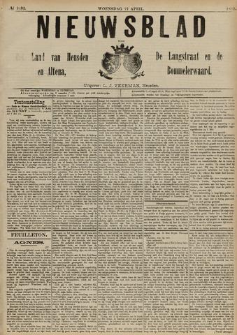 Nieuwsblad het land van Heusden en Altena de Langstraat en de Bommelerwaard 1892-04-27