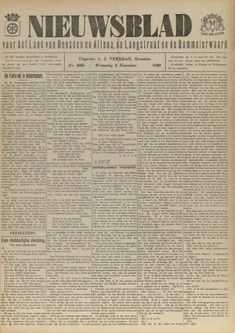 Nieuwsblad het land van Heusden en Altena de Langstraat en de Bommelerwaard 1920-11-03