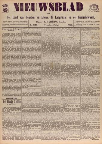 Nieuwsblad het land van Heusden en Altena de Langstraat en de Bommelerwaard 1909-09-15