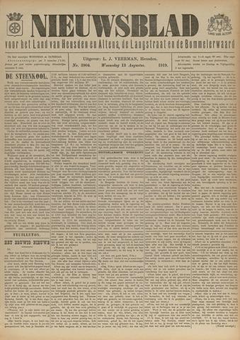 Nieuwsblad het land van Heusden en Altena de Langstraat en de Bommelerwaard 1919-08-13