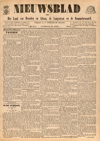 Nieuwsblad het land van Heusden en Altena de Langstraat en de Bommelerwaard 1905-04-22