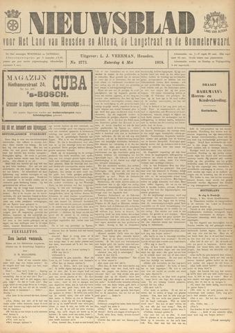 Nieuwsblad het land van Heusden en Altena de Langstraat en de Bommelerwaard 1918-05-04