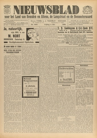 Nieuwsblad het land van Heusden en Altena de Langstraat en de Bommelerwaard 1934-05-04