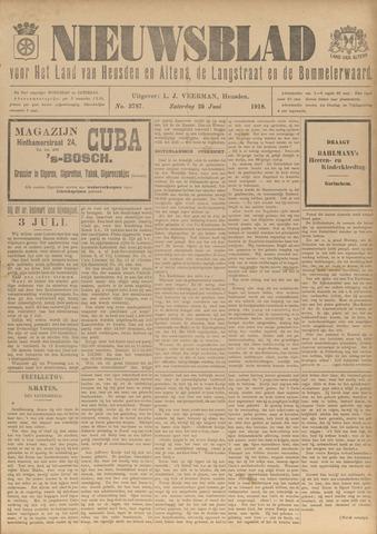 Nieuwsblad het land van Heusden en Altena de Langstraat en de Bommelerwaard 1918-06-29