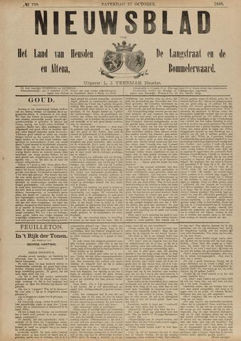 Nieuwsblad het land van Heusden en Altena de Langstraat en de Bommelerwaard 1888-10-27