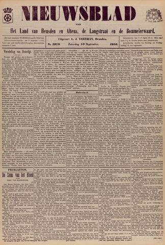 Nieuwsblad het land van Heusden en Altena de Langstraat en de Bommelerwaard 1910-09-10