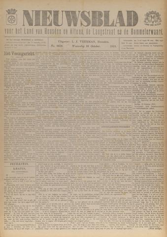 Nieuwsblad het land van Heusden en Altena de Langstraat en de Bommelerwaard 1918-10-16