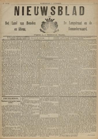Nieuwsblad het land van Heusden en Altena de Langstraat en de Bommelerwaard 1891-10-07