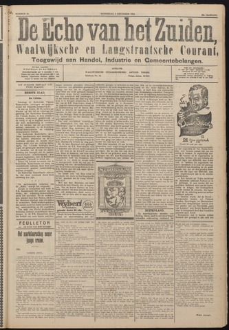 Echo van het Zuiden 1925-12-02
