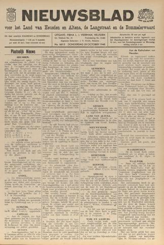 Nieuwsblad het land van Heusden en Altena de Langstraat en de Bommelerwaard 1948-10-28