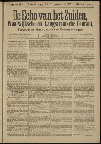 Echo van het Zuiden 1892-08-18