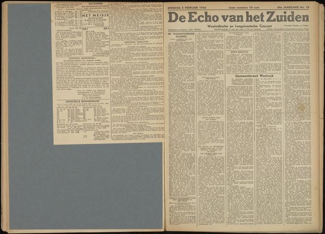Echo van het Zuiden 1946-02-05