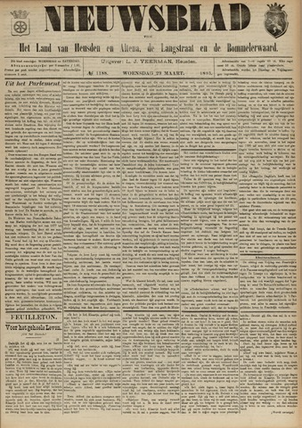 Nieuwsblad het land van Heusden en Altena de Langstraat en de Bommelerwaard 1893-03-29