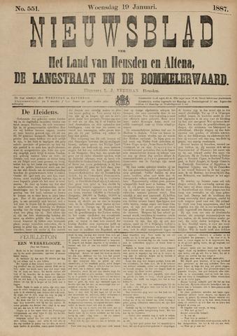 Nieuwsblad het land van Heusden en Altena de Langstraat en de Bommelerwaard 1887-01-19