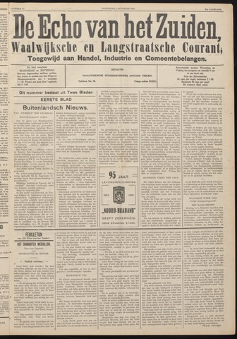 Echo van het Zuiden 1938-08-03