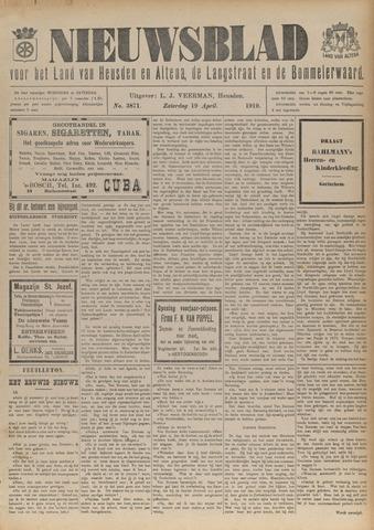 Nieuwsblad het land van Heusden en Altena de Langstraat en de Bommelerwaard 1919-04-19