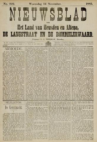 Nieuwsblad het land van Heusden en Altena de Langstraat en de Bommelerwaard 1883-11-14
