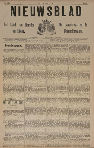 Nieuwsblad het land van Heusden en Altena de Langstraat en de Bommelerwaard 1888-07-14