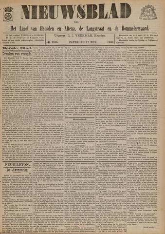 Nieuwsblad het land van Heusden en Altena de Langstraat en de Bommelerwaard 1900-11-17