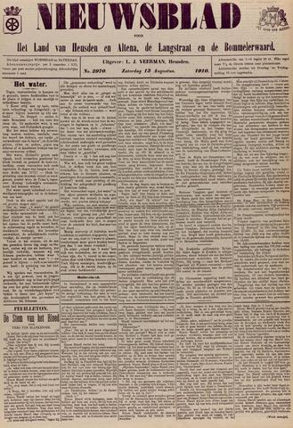 Nieuwsblad het land van Heusden en Altena de Langstraat en de Bommelerwaard 1910-08-13