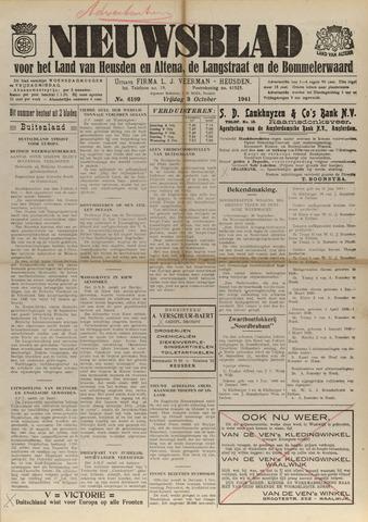 Nieuwsblad het land van Heusden en Altena de Langstraat en de Bommelerwaard 1941-10-03