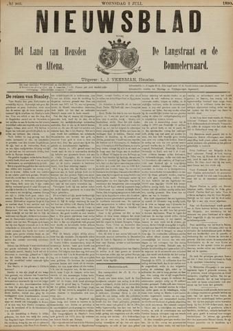 Nieuwsblad het land van Heusden en Altena de Langstraat en de Bommelerwaard 1890-07-02