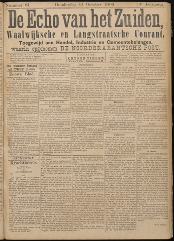 Echo van het Zuiden 1906-10-11