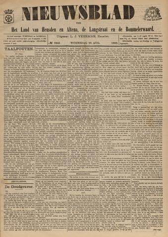 Nieuwsblad het land van Heusden en Altena de Langstraat en de Bommelerwaard 1903-08-26