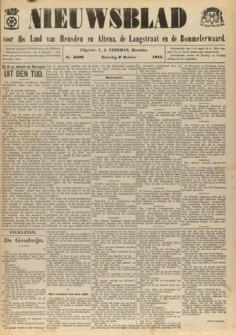 Nieuwsblad het land van Heusden en Altena de Langstraat en de Bommelerwaard 1915-10-09