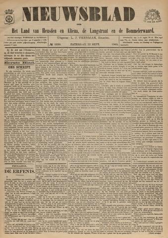 Nieuwsblad het land van Heusden en Altena de Langstraat en de Bommelerwaard 1903-09-12
