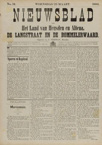 Nieuwsblad het land van Heusden en Altena de Langstraat en de Bommelerwaard 1882-03-22