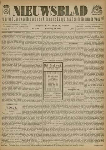 Nieuwsblad het land van Heusden en Altena de Langstraat en de Bommelerwaard 1922-06-21