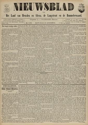 Nieuwsblad het land van Heusden en Altena de Langstraat en de Bommelerwaard 1892-08-13